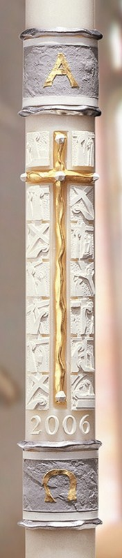 "Way of the Cross Paschal Candle - 1 15/16"" x 39"""