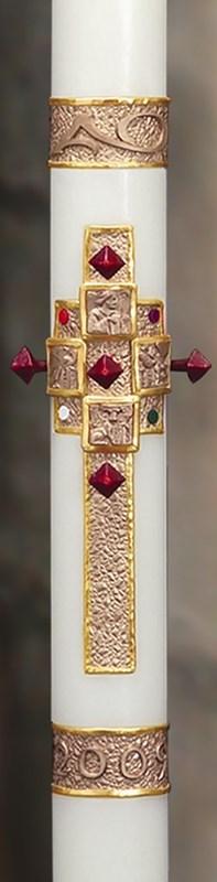 """Evangelium Paschal Candle - 1 15/16"""" x 39"""""""