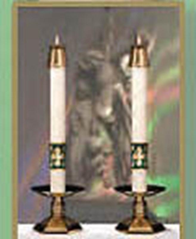Christus Rex Altar Candles - 1.5 x 17 (Pair)