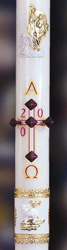 Ornamented Paschal Candle - 1-1/2 x 34