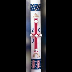 Benedictine Paschal Candle - 1-1/2 x 34