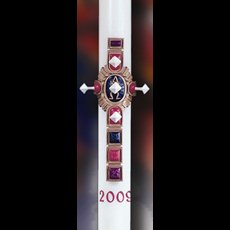 Christ Victorious Paschal Candle - 1-1/2 x 34