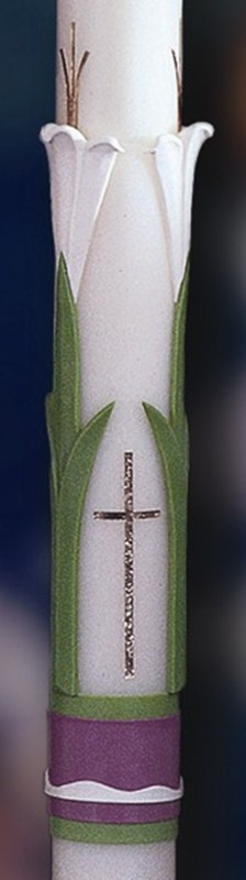Easter Glory Paschal Candle - 1-1/2 x 34