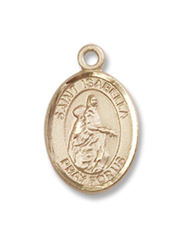 GOLD FILLED ST. ISABELLA of PORTUGAL PENDANT