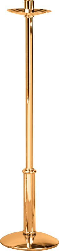 """48"""" High Polish Bronze Paschal Candlestick"""