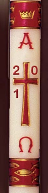 Dadant Gloria Burgundy Paschal Candle