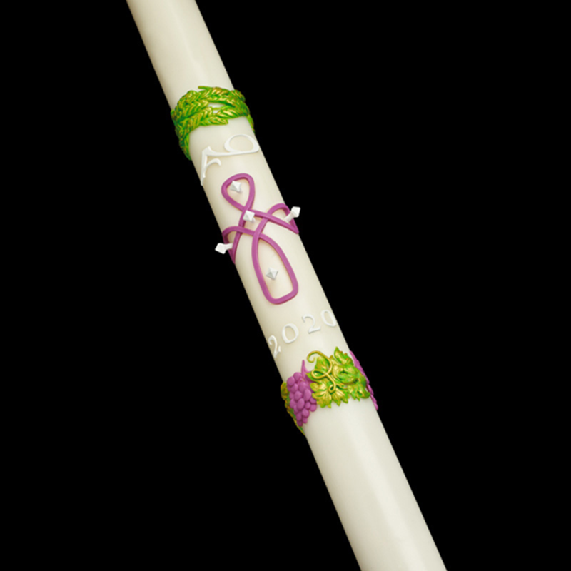 Remembrance 51% Beeswax Paschal Candle