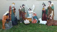 Outdoor Nativity Set for Churches Displayed on Lawn